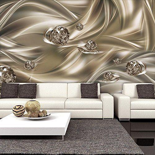 Vlies Fototapete 350x245 cm - 3 Farben zur Auswahl - Top - Tapete - Wandbilder XXL - Wandbild - Bild - Fototapeten - Tapeten - Wandtapete - Abstrakt Kugel 3D optisch a-C-0008-a-d