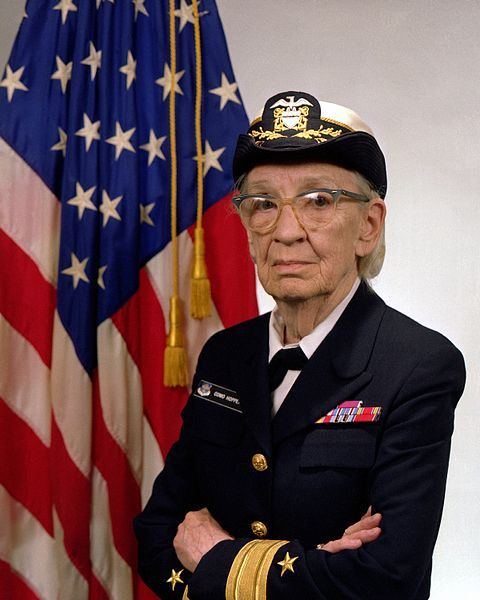 Grace Murray Hopper 1906 – 1992) was an American computer scientist and United States Navy Rear Admiral. A pioneer in the field, she was one of the first programmers of the Harvard Mark I computer, and developed the first compiler for a computer programming language.She conceptualized the idea of machine-independent programming languages, which led to the development of COBOL, one of the first modern programming languages.