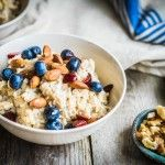 Overnight oats met blauwe bessen en amandelen | Eat.Pure.Love