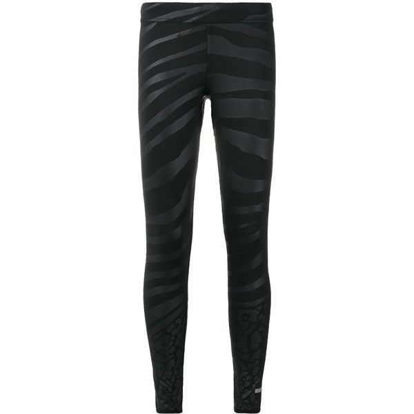 Adidas By Stella Mccartney zebra print leggings ($86) ❤ liked on Polyvore featuring pants, leggings, black, adidas leggings, legging pants, zebra print leggings, zebra print pants and zebra pants