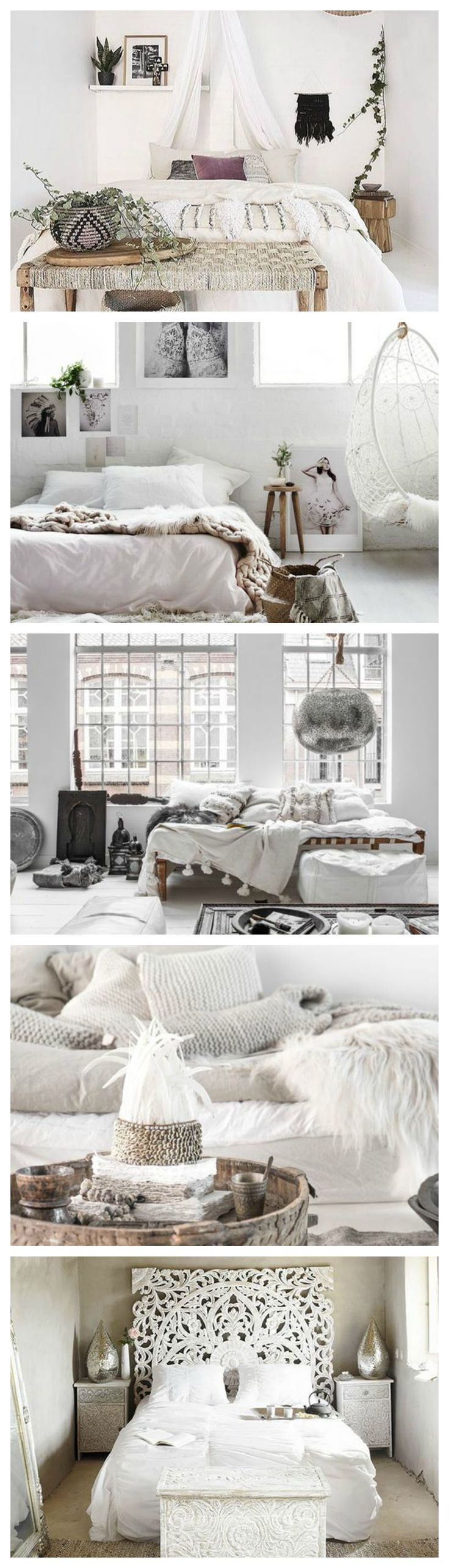 Bohemian Heaven {Fresh Boho Chic Home Decor Inspiration} Fresh Boho Chic Home Decor Inspiration. Clean white home decor. Bohemian bedrooms. Bohemian home decor. White bohemian decor.