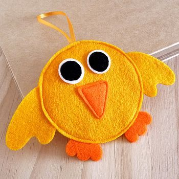Felt Easter Chick Decoration