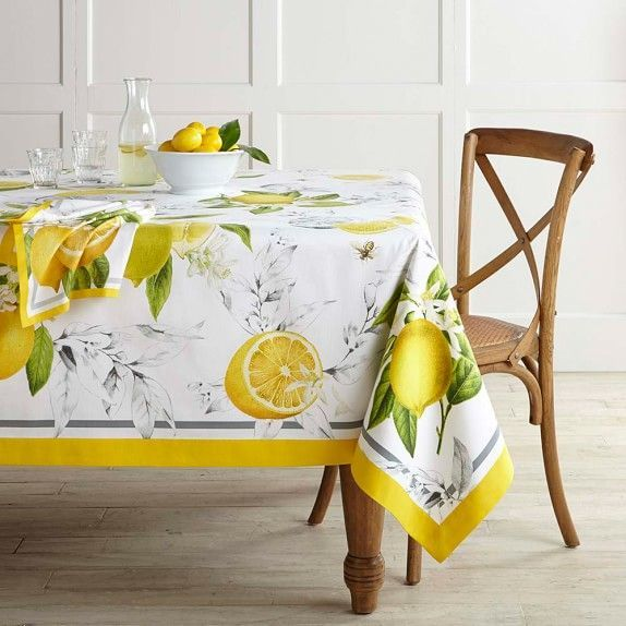 Meyer Lemon Tablecloth 70 X 108 Quot In 2020 Table Linens