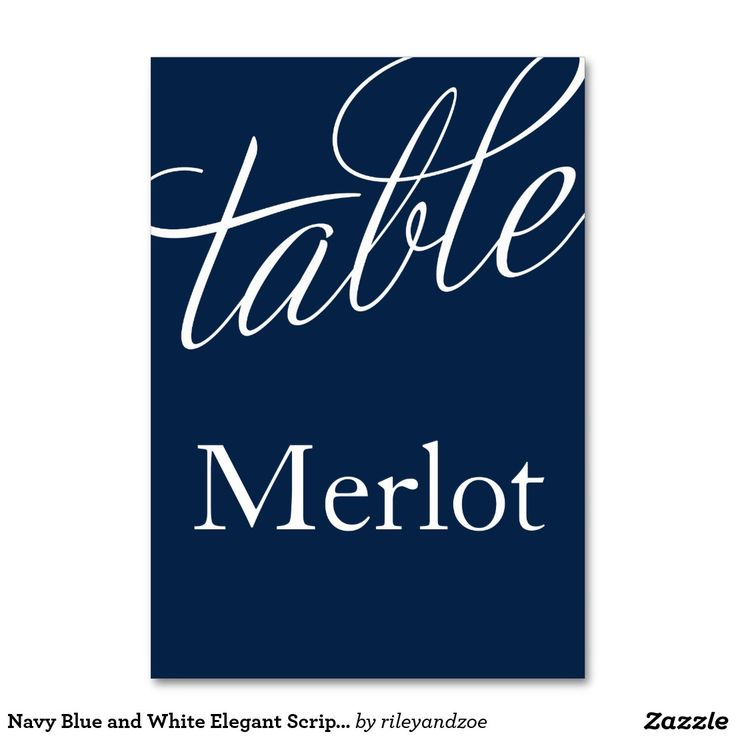 Custom table cards with names of wine instead of table numbers