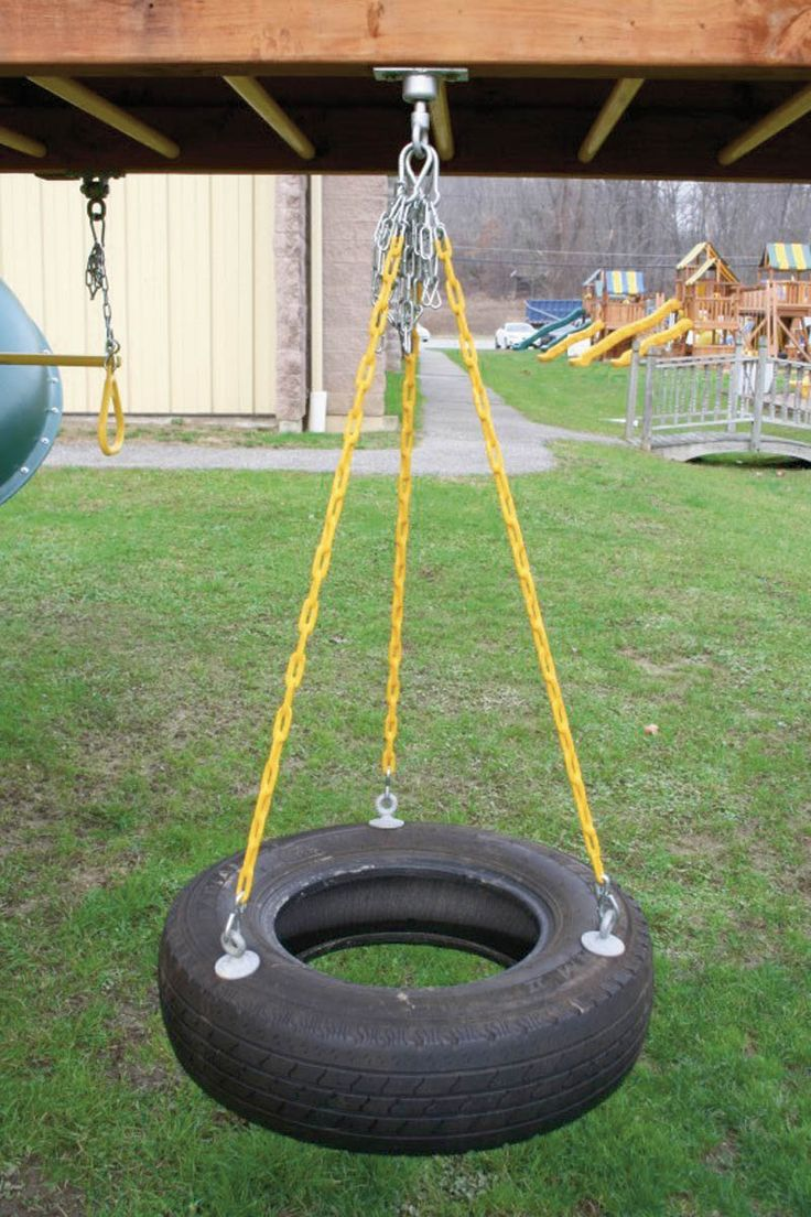 How To Make Your Own Safe Backyard Tire Swing ...
