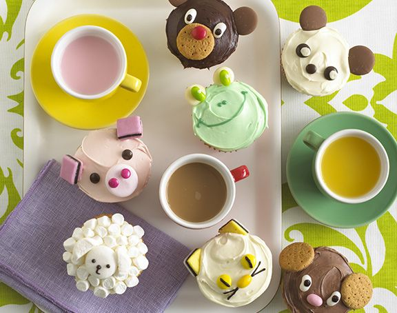 Animal Cupcakes is a fun easter recipe for children. Bake regular and mini cupcakes and decorate them to make little chicks and marshmallow sheep. If you can