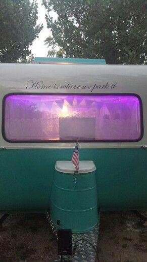 My caravan vintage home is where we park it caravana retro