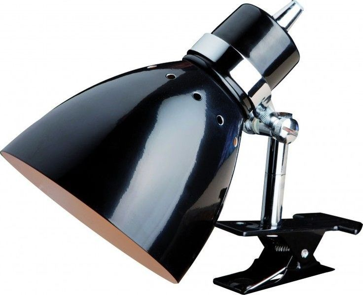 Lampe a pince noire lampe de table spot de lecture lampe de bureau liseuse 45178