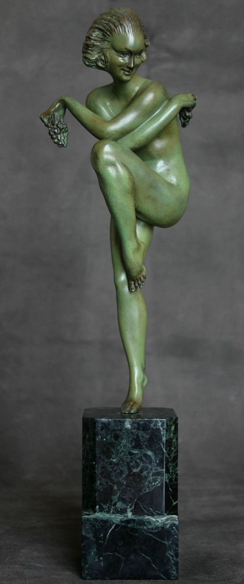 A lovely art deco bronze figure by Pierre Le Faguays edited by Arthur Goldscheider 1920s.