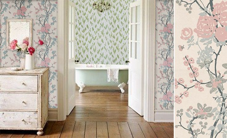 1000 id es sur le th me papier peint shabby chic sur pinterest style shabby chic fond d 39 cran. Black Bedroom Furniture Sets. Home Design Ideas