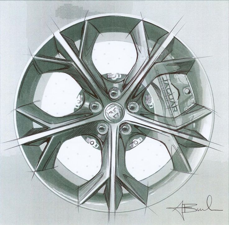 how to draw a car wheel
