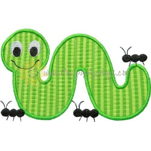Inchworm Formigas Applique projeto