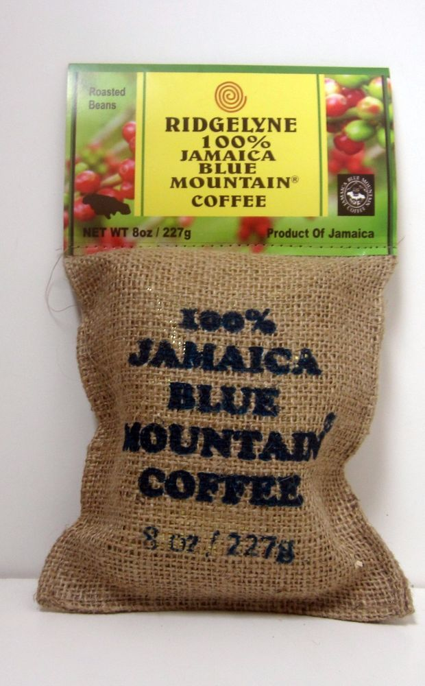 3 ridgelyne 100 percent jamaica blue mountain coffee roasted beans organic 8 oz #Ridgelyne