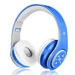 FTSM Casque stéréo supra-aural sans fil Bluetooth avec microphone pour la musique en streaming Compatible avec iPhone 6S/6/5S/4S, iPad,…