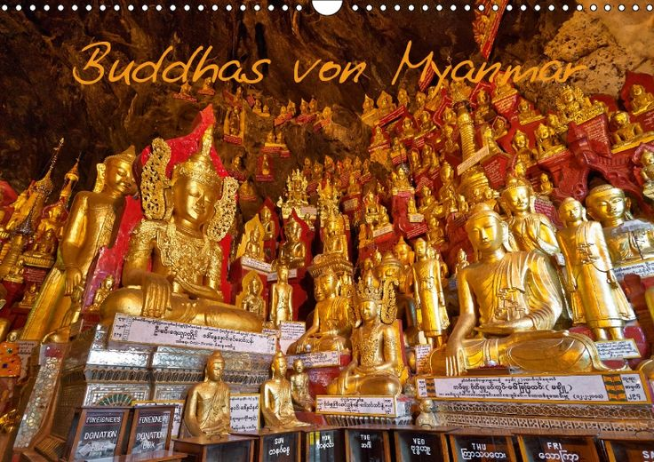 Buddhas von Myanmar - CALVENDO