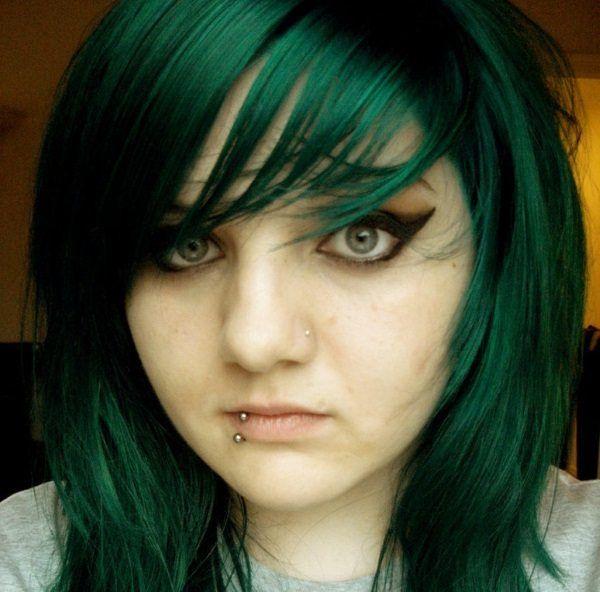 Image result for dark green hair