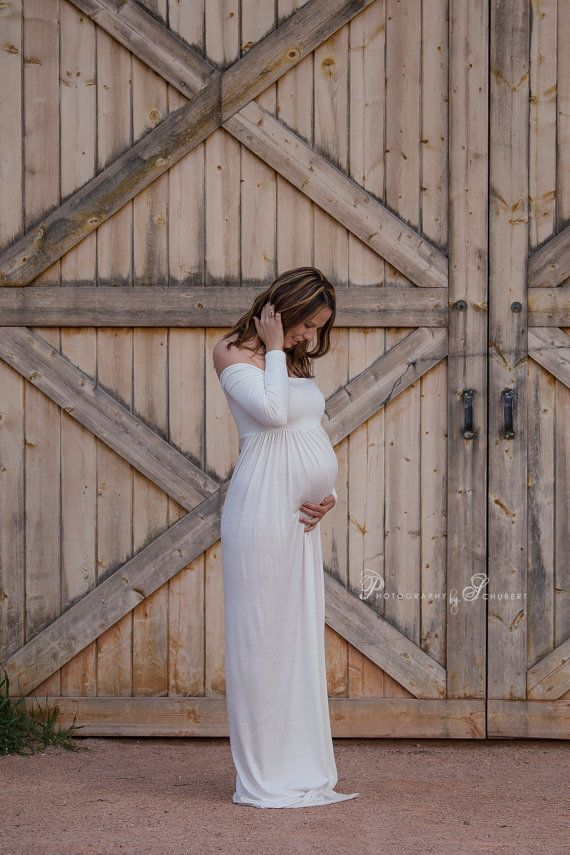 30% OFF Off shoulder long sleeves maternity by KorinnArtdesign