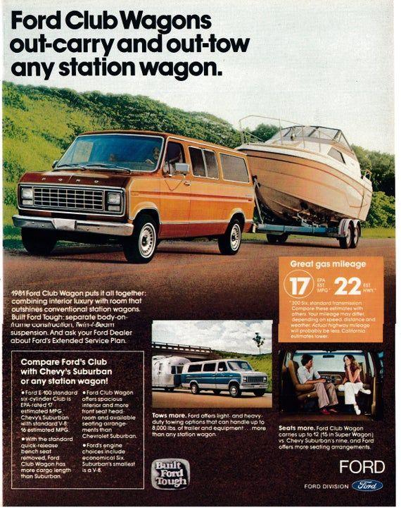 1981 Ford Club Wagon Compare With Chevy Suburbans Original 13 10