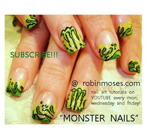MONSTER energy drink LOGO design by robinmoses - Nail Art Gallery nailartgallery.nailsmag.com by Nails Magazine www.nailsmag.com #nailart