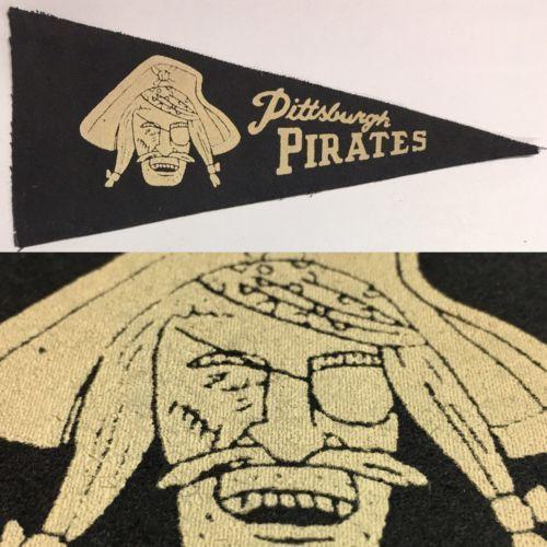 1960-039-s-Vintage-Pittsburgh-Pirates-Baseball-Mlb-4x8-5-Mini-Pennant-Flag-Banners
