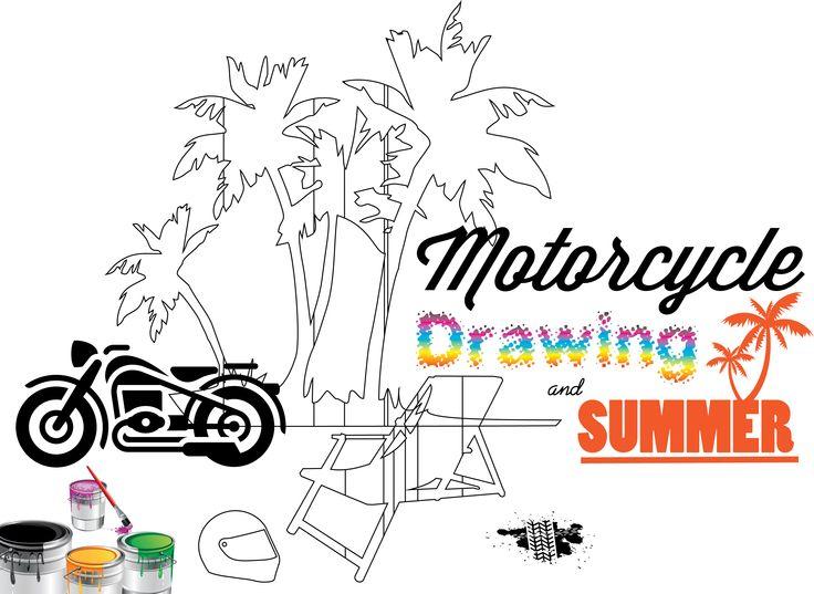 Motorcycle, Drawing & Summer