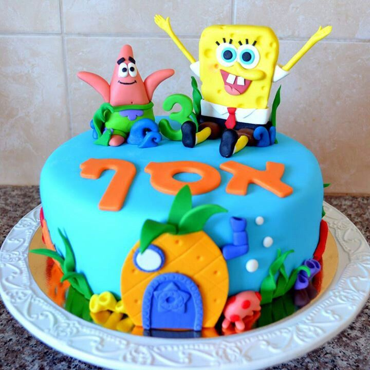 Sponge Bob And Patrick Cake By Nicensugar Chocolate With