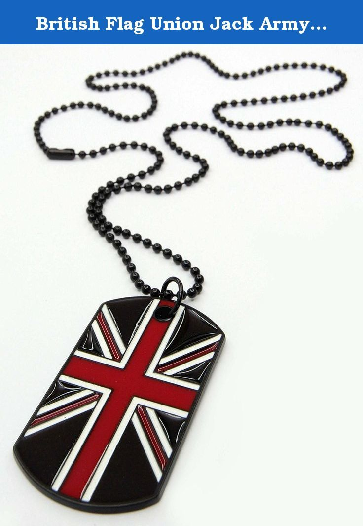 British Flag Union Jack Army Style Black Dog Tags Chain Mens Pendant Necklace British Flag Dog Tags Military. This gorgeous Pendant Necklaces is a fashion statement of its own - Featuring a simple yet stunning Leather or Chain , Perfect for everyday-wear, it is guaranteed to add a unique trendy touch to almost all outfits.