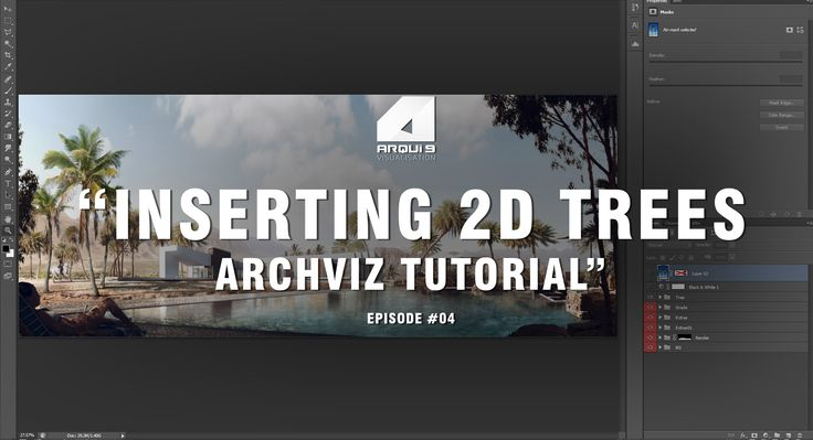 Architectural Visualization Tutorial - Inserting Trees - Post Production
