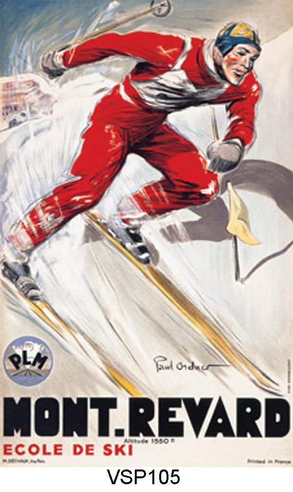 vintage ski poster - Mont Revard, FR