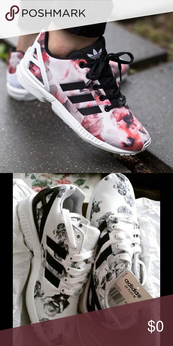 ISO floral adidas zx flux / torsion I'm looking for adidas zx flux in the print shown in the pictures. Size 4.5y or 6 in women's adidas Shoes