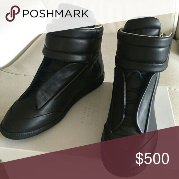 Maison Margiela Black Brand New 2017 Sneakers Box Tags Dustbags Receipts Included 100% Authentic Original Womens & Mens Sizes For Sale 💎 For Sizing T▶x▶t. 630 -▶ 728 -▶8781👈 and o ffers Maison Margiela Shoes Sneakers