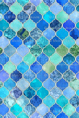Blue Moraccan Tile Pattern
