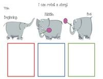 Dr. Seuss activities: Horton retell a story graphic organizer anchor chart or worksheet. FREE