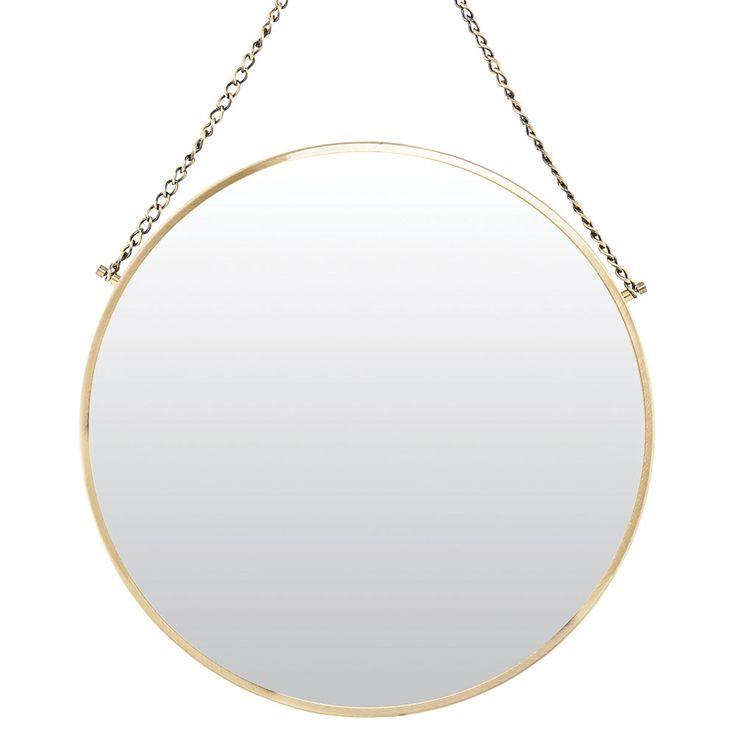 Bolina Mirror Round, Brass - House Doctor - House Doctor - RoyalDesign.com