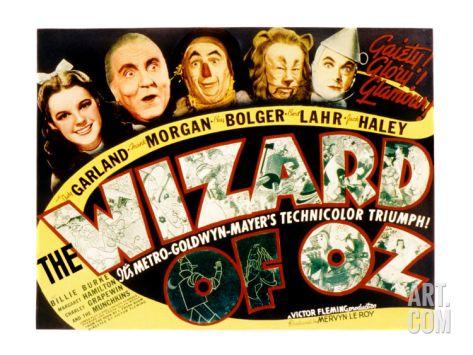 Wizard of Oz, Judy Garland, Frank Morgan, Ray Bolger, Bert Lahr, Jack Haley, 1939 Premium Poster at Art.com
