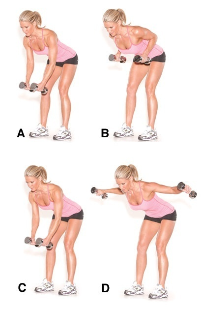 Exercises for trapezius and rhomboid muscles, power cleans