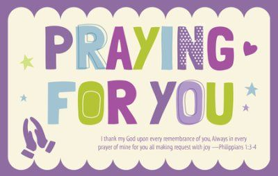 Praying for You (Philippians 1:3-4, KJV) Postcards, 25