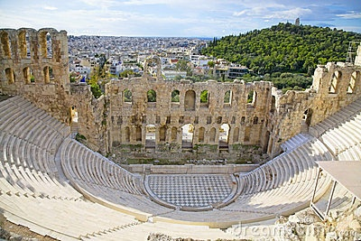 Odeon of Herodes Atticus by Onepony, via Dreamstime