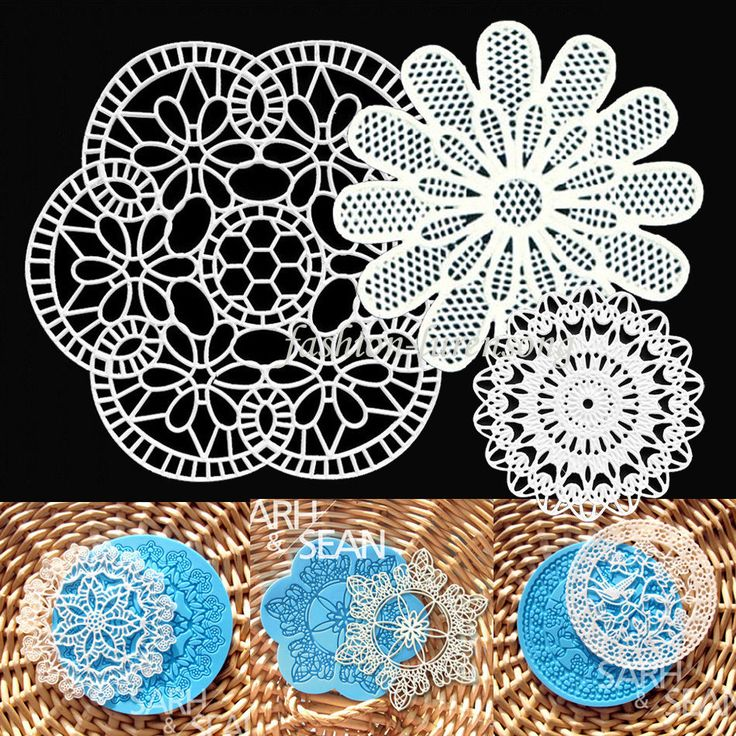 Lace Silicone Mold Sugar Crafts Fondant Embosser Mat Cake Decoration Baking Pan in Cake Decorating Supplies | eBay