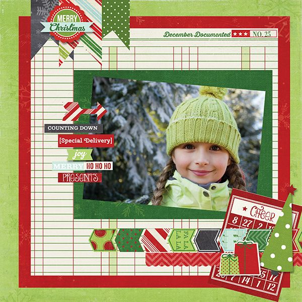 #papercraft #christmas #scrapbook #layout    New Simple Stories December Documented - Scrapbook.com