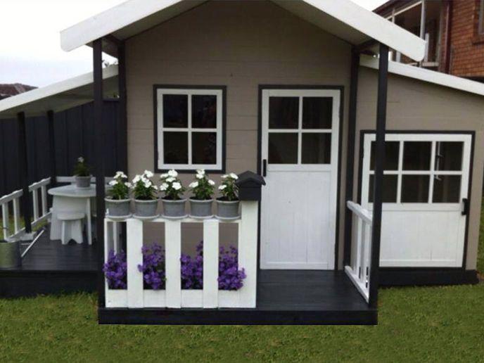 Grand Malibu Solid Hardwood Kids Cubby House DEL Available Free Kitchen SET   eBay