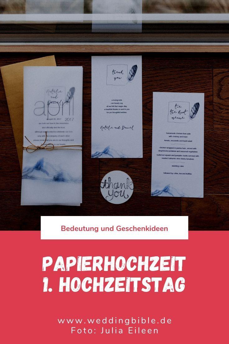 Papierhochzeit Wird Am 1 Hochzeitstag Gefeiert Die Bedeutung Der Papierhochzeit Und Geschenkideen Hochzeitstag Hochzeit 1 Hochzeitstag