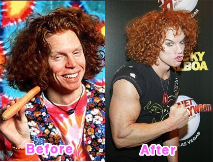 Carrot Top. WTF? he is one scary looking dude.