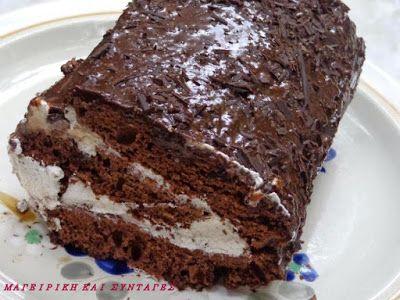 Kορμός σοκολάτας με γέμιση !!! ~ ΜΑΓΕΙΡΙΚΗ ΚΑΙ ΣΥΝΤΑΓΕΣ