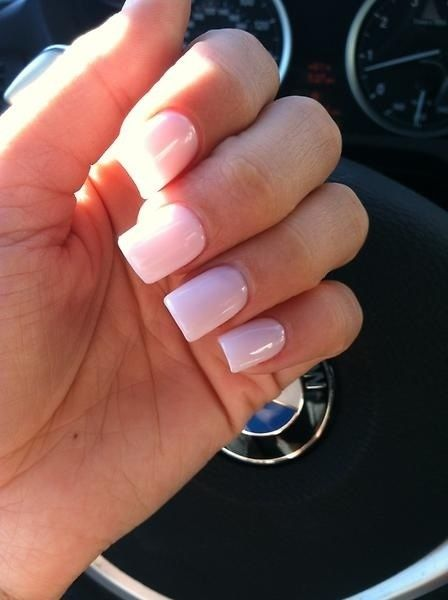 light pink acrylic nails - Google Search