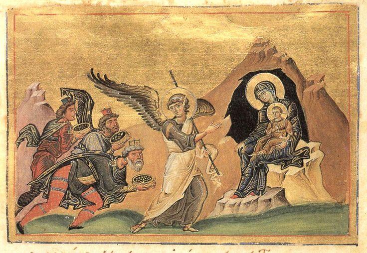 File:Adoration of the Magi (Menologion of Basil II).jpg
