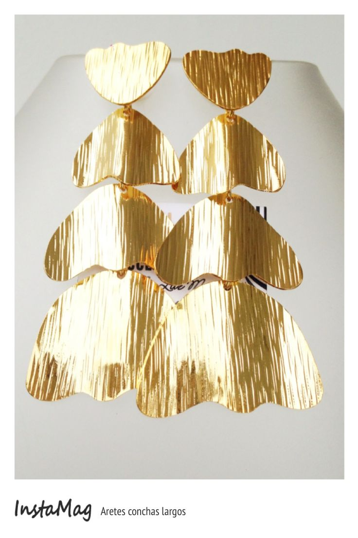 Aretes concha bronce con ba o de oro sinu a collar for Bano de oro el yunque