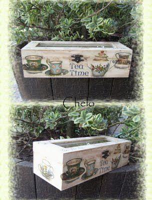 caja tacitas de té