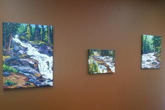 3 Paintings, Corporate collection of Dr. Kimberley Rogers, Rocky Mountain House, AB. www.CapriceArtStudio.com