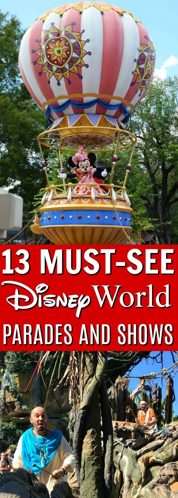 Disney World Tips | With all the parades and shows at Disney World, it's hard to see there all. But Here are 13 favorites you might want to consider! | Locations, lengths, and times